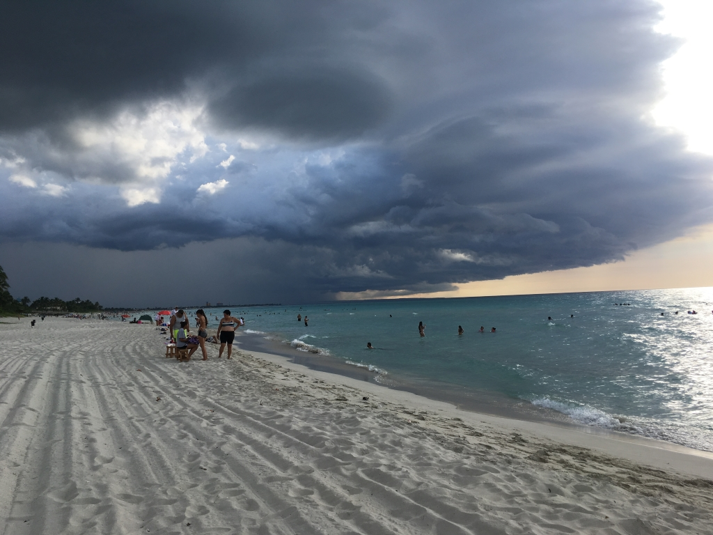 Varadero beach rain sky