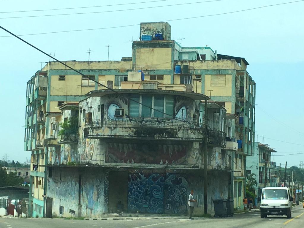 Graffiti house Havana Cuba