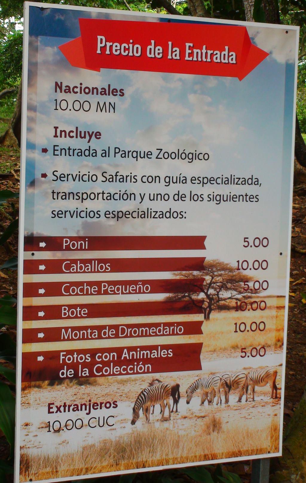 price havana zoo