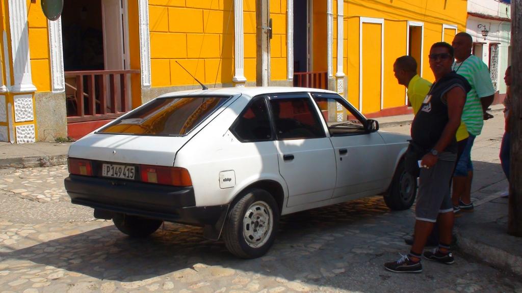 Moskwich russian car in Cuba